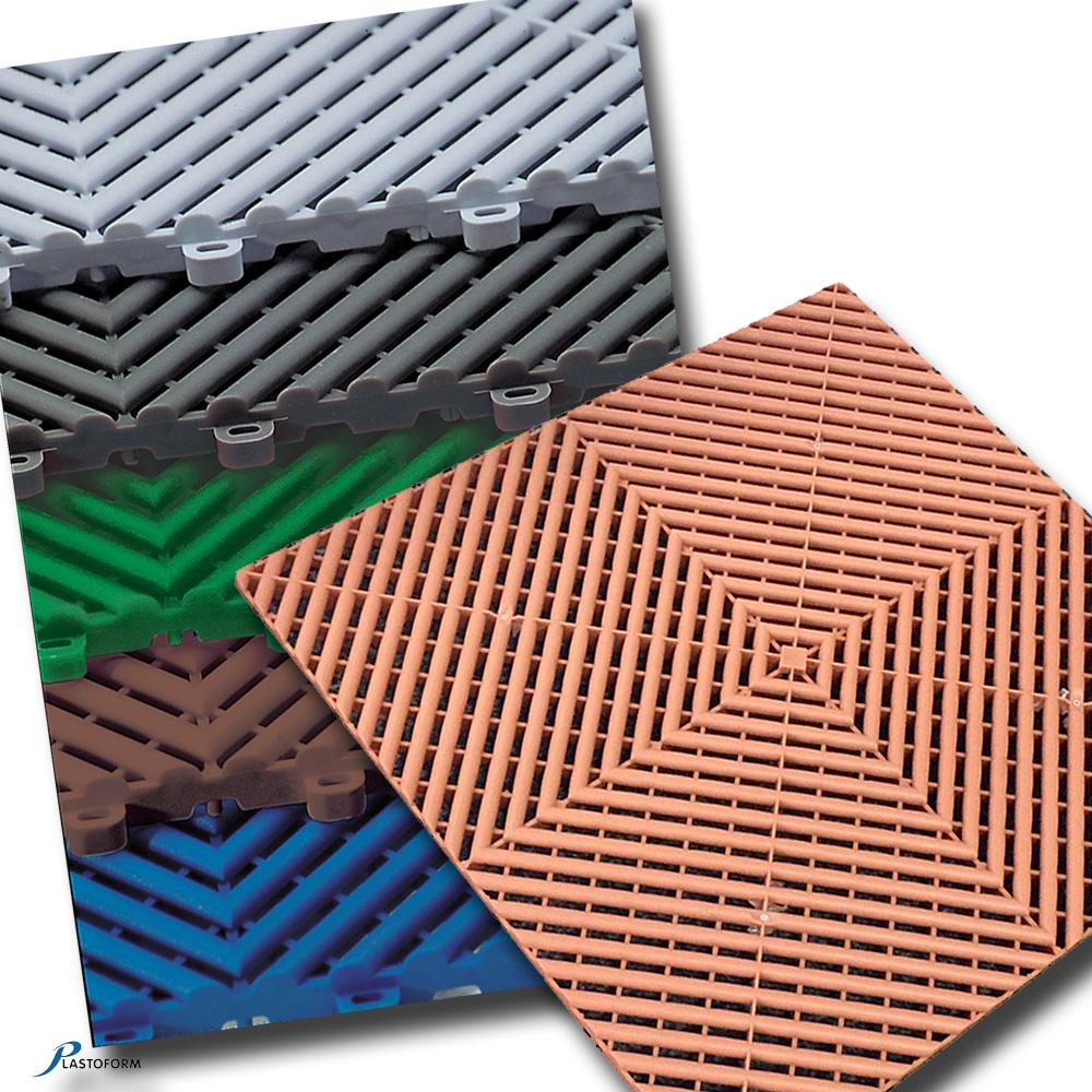 Plasto Rip Bodenplatten Kunststoff Bodenfliesen 6 Er Pack