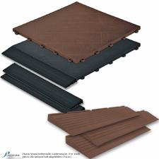 Plasto-Wood Randleisten und Bodenfliesen