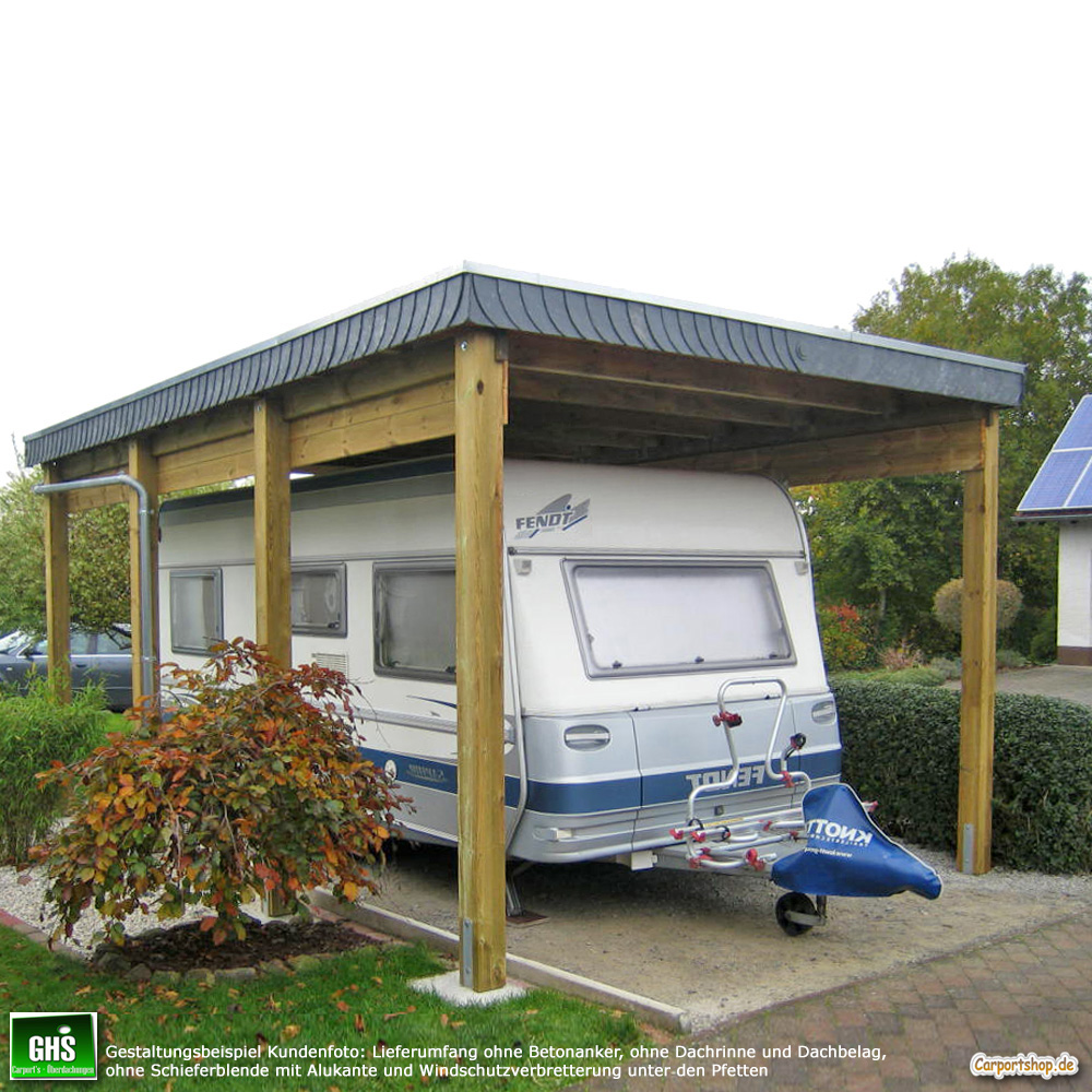 caravan carport grundkonstruktion 4x6 typ 280 ohne dachbelag. Black Bedroom Furniture Sets. Home Design Ideas