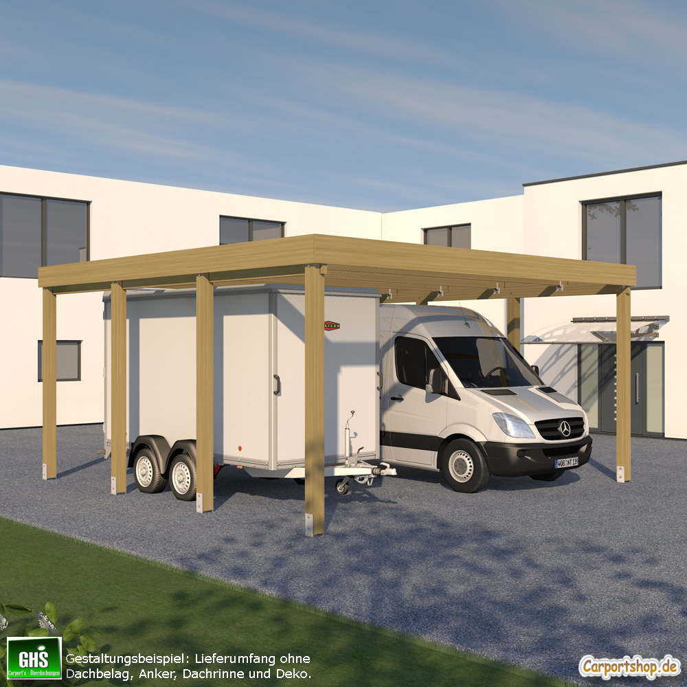 caravan carport grundkonstruktion 6x6 typ 280 ohne dachbelag. Black Bedroom Furniture Sets. Home Design Ideas
