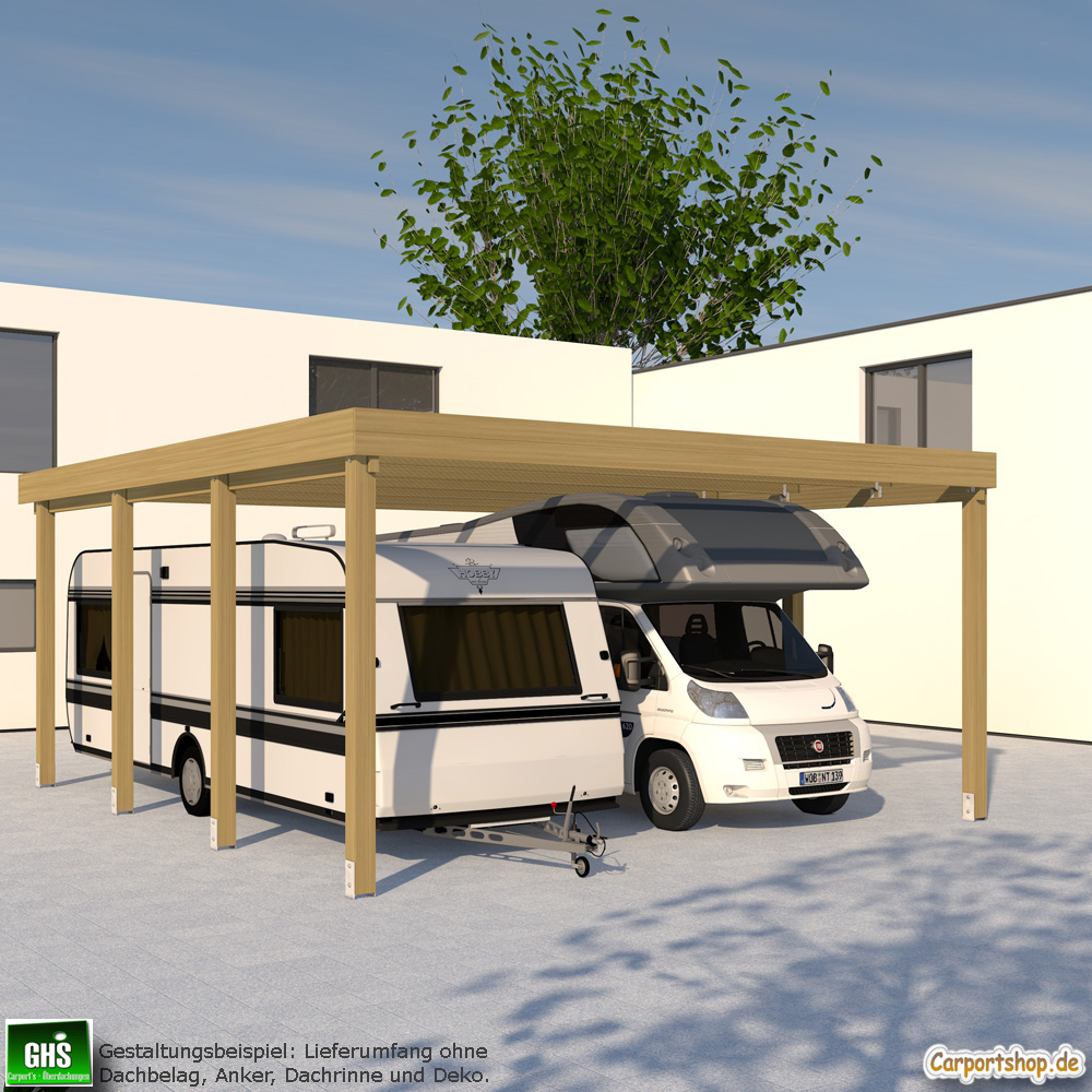 Caravan carport grundkonstruktion 6x7 typ 280 ohne for Carport shop