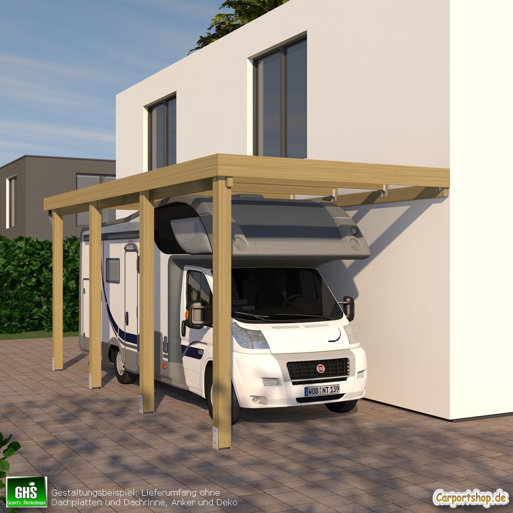 Carport Wandanbau: Caravan-Anbau-Carport, Grundkonstruktion 3x7