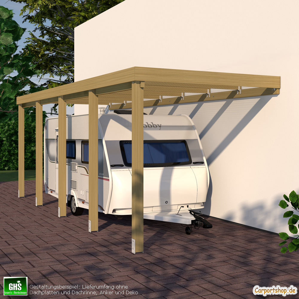caravan anbau carport grundkonstruktion 3x8 typ 280 ohne dachbelag. Black Bedroom Furniture Sets. Home Design Ideas