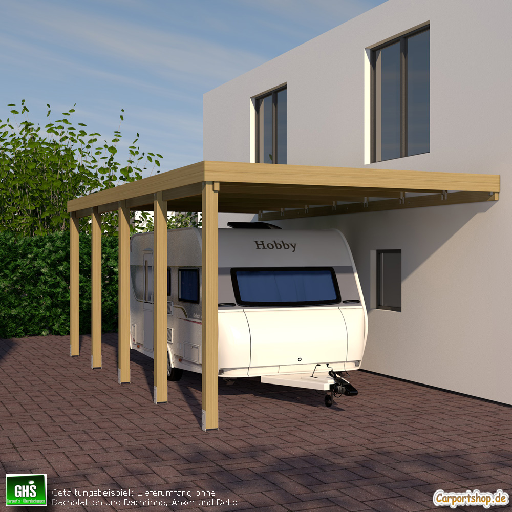 caravan anbau carport grundkonstruktion 4x8 typ 280. Black Bedroom Furniture Sets. Home Design Ideas