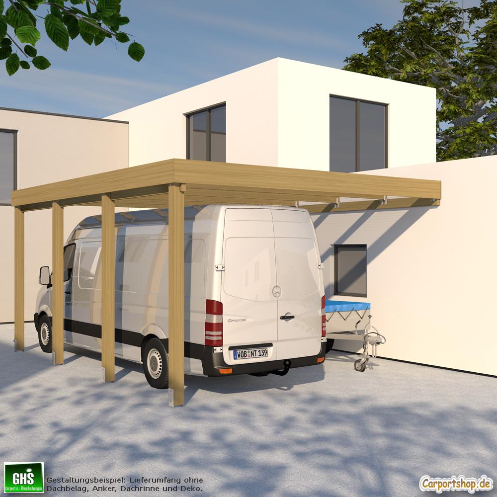 Carport Wandanbau: Caravan-Anbau-Carport, Grundkonstruktion 5x6