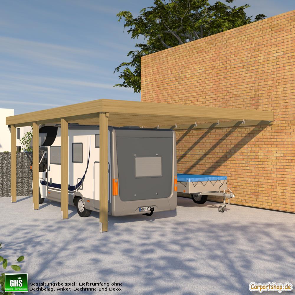 Caravan Anbau Carport Grundkonstruktion 6x7 Typ 280