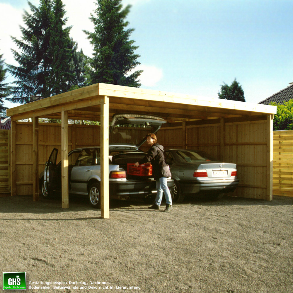 carport 5x7 m doppelcarport mit st tzen 11x11 cm freitragend. Black Bedroom Furniture Sets. Home Design Ideas