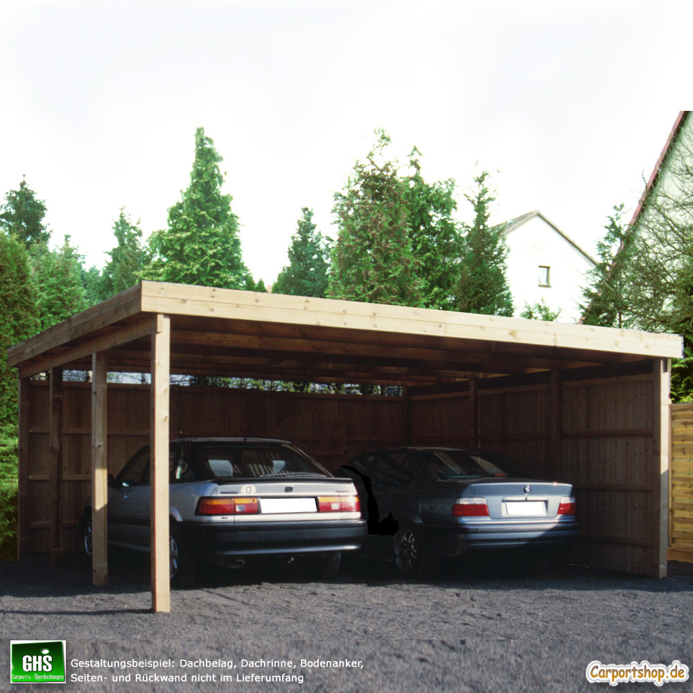 carport 6x6 m doppelcarport mit st tzen 11x11 cm freitragend. Black Bedroom Furniture Sets. Home Design Ideas