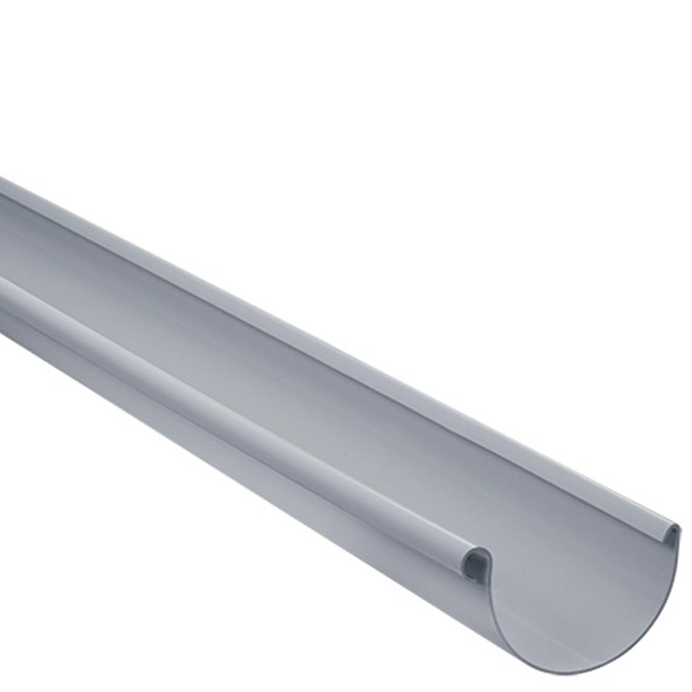 dachrinne 2m lang aus kunststoff, halbrund 100 mm Ø