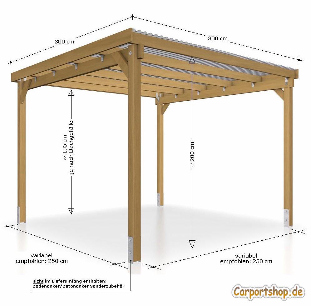 unterstand berdachung 3x3 m. Black Bedroom Furniture Sets. Home Design Ideas